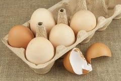 Hemlagade fega ägg Traditionell mat med protein Ägg på tabellen, matförberedelse Arkivfoto