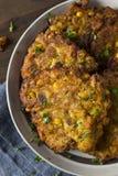 Hemlagade Fried Corn Fritter arkivbild
