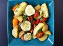 Hemlagade grillade potatisar Arkivfoto