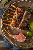 Hemlagade Herb Roast Lamb Fotografering för Bildbyråer