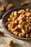 Hemlagade Honey Roasted Peanuts Royaltyfri Foto