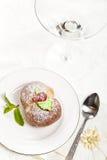 Hemlagade italienska persikakakor Royaltyfri Foto