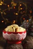 Hemlagade julkakor med torkat tranbär och havremjöl Royaltyfria Foton