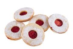 Hemlagade julsötsaker med socker pudrar och sitter fast Royaltyfri Bild
