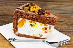 Hemlagade kakor: Curd Jelly Cake på plattan Royaltyfri Fotografi
