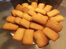 Hemlagade kakor för finansiärmandelkortkort Arkivfoto
