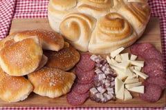 Hemlagade kakor för frukost Royaltyfri Fotografi