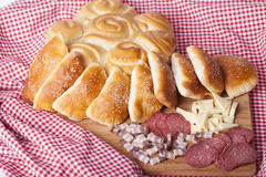 Hemlagade kakor för frukost Fotografering för Bildbyråer