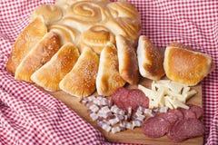 Hemlagade kakor för frukost Arkivbilder
