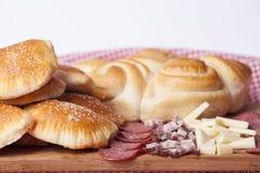 Hemlagade kakor för frukost Royaltyfria Bilder