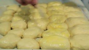 Hemlagade kakor för rysk matlagning lager videofilmer
