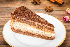 Hemlagade kakor: Poppy Filling Cake på plattan Royaltyfria Foton