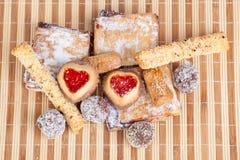 Hemlagade kakor, sötsaker Fotografering för Bildbyråer