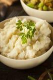 Hemlagade krämiga mosade potatisar Arkivfoto