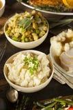 Hemlagade krämiga mosade potatisar Royaltyfri Bild