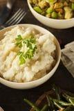 Hemlagade krämiga mosade potatisar Royaltyfri Fotografi