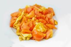 Tomat och ägg - kinesisk mat Arkivfoton