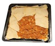 Hemlagade lasagner för kock Royaltyfri Foto