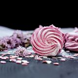 hemlagade marshmallows Rosa marshmallower Royaltyfria Bilder