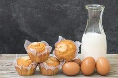 Hemlagade och fluffiga muffin Royaltyfri Fotografi