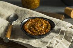 Hemlagade organiska utsmyckade Dijon Mustard Arkivbilder