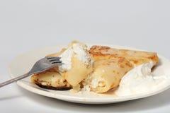 hemlagade pannkakor Royaltyfri Bild