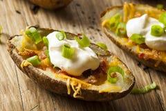 Hemlagade potatishudar med bacon Royaltyfri Fotografi
