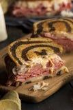 Hemlagade Reuben Sandwich Royaltyfri Bild