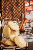 Hemlagade snickerdoodlekakor med kryddor och farin rost royaltyfri bild