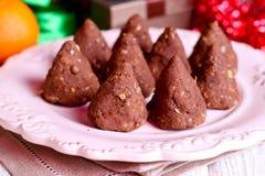 Hemlagade sunda tryfflar för söt choklad Royaltyfri Foto
