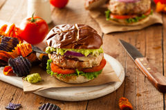 Hemlagade sunda Turkiet hamburgare Royaltyfri Fotografi