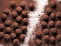 hemlagade tryfflar för choklad Arkivfoto