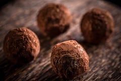 hemlagade tryfflar för choklad Royaltyfri Fotografi