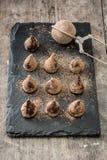 hemlagade tryfflar för choklad Royaltyfri Foto