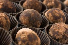 hemlagade tryfflar för choklad Arkivfoton