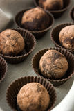 hemlagade tryfflar för choklad Royaltyfri Bild