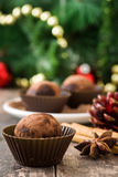 hemlagade tryfflar för choklad Royaltyfria Foton