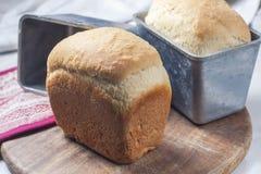 Hemlagat bröd i den stekheta maträtten Royaltyfria Bilder