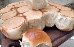 Hemlagat bröd, slut upp arkivfoto