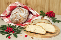 Hemlagat bröd Fotografering för Bildbyråer