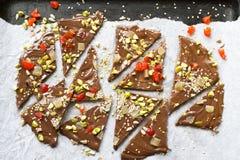 Hemlagat chokladskäll royaltyfri foto