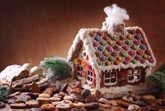 hemlagat hus för pepparkaka Royaltyfri Fotografi