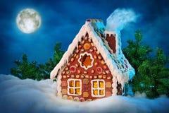 hemlagat hus för pepparkaka Royaltyfria Bilder