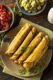 Hemlagat mexicanskt nötkött Taquitos Arkivbild