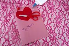 Hemlagat mors dagkort arkivfoton