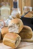 Hemlagat sourdoughbröd med frö Royaltyfri Bild
