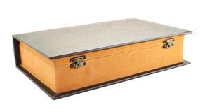 Hemlig bok formad casket Royaltyfri Foto