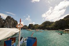 Hemlig lagun, El Nido, Filippinerna Royaltyfri Fotografi