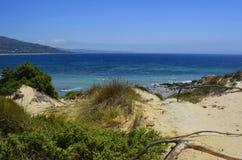 Hemlig och öde strand av La Paloma arkivbild