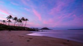 Hemlig strand på gryning Royaltyfria Foton